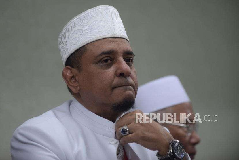 Ketua Umum Gerakan Nasional Pengawal Fatwa (GNPF) Ulama Yusuf Muhammad Martak. Republika/