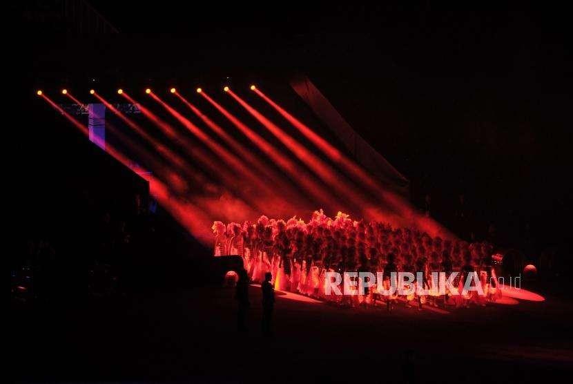 Suasana pembukaan Asian Games 2018 di Stadion GBK, Senayan, Jakarta, Sabtu (18/8).