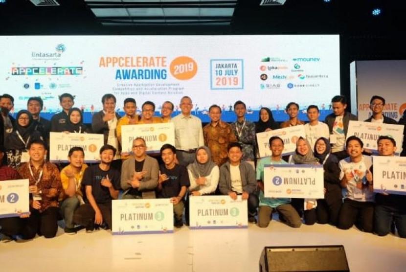 Ini Dia 9 Startup Pemenang Appcelerate 2019. (FOTO: Lintasarta)