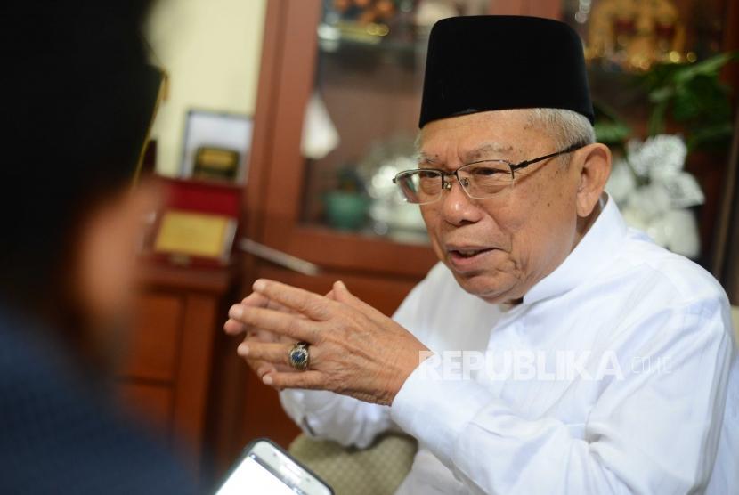 Ketua Umum Majelis Ulama Indonesia (MUI) KH Ma'ruf Amin