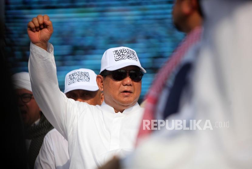 Calon presiden nomor urut 2 Prabowo Subianto.