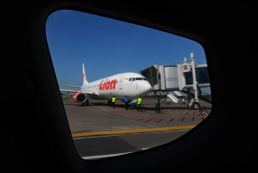Pesawat milik maskapai Lion Air (ilustrasi)