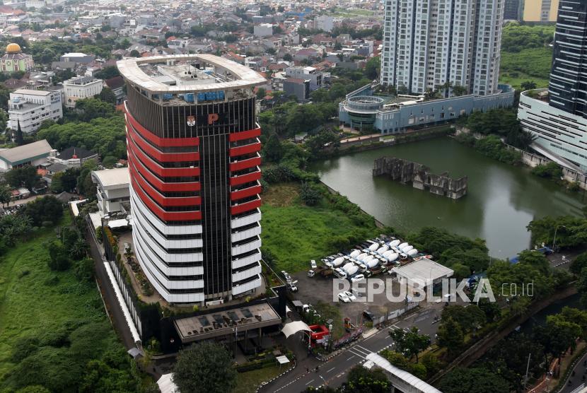 Suasana Gedung Merah Putih kantor Komisi Pemberantasan Korupsi (KPK). ICW mendesak KPK segera mengusut pihak pembocor penggeledahan barang bukti terkait korupsi Ditjen Pajak di Kalsel.