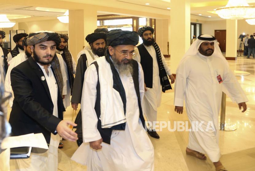 Delegasi Taliban melakukan kunjungan ke China pada Rabu (28/7). Ilustrasi.