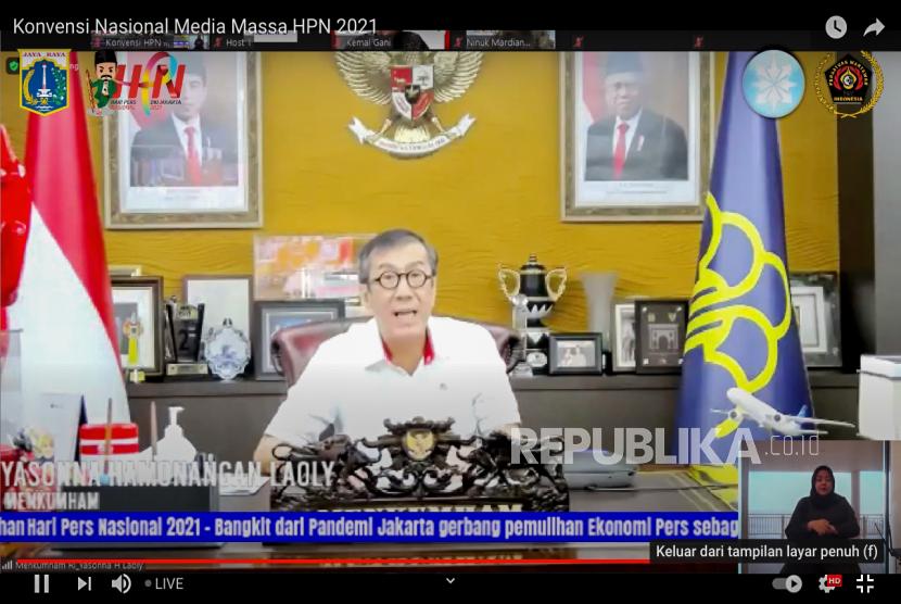 Menteri Hukum dan HAM Yasonna H Laoly.