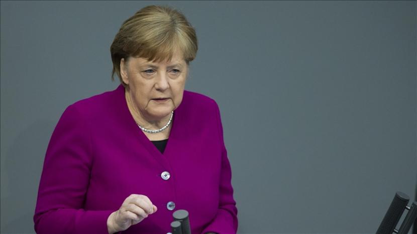Kanselir Jerman Angela Merkel menyampaikan solidaritas Jerman kepada Israel di tengah serangan udara yang sedang berlangsung di Gaza - Anadolu Agency