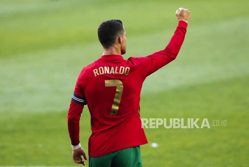 Pemain Portugal Cristiano Ronaldo