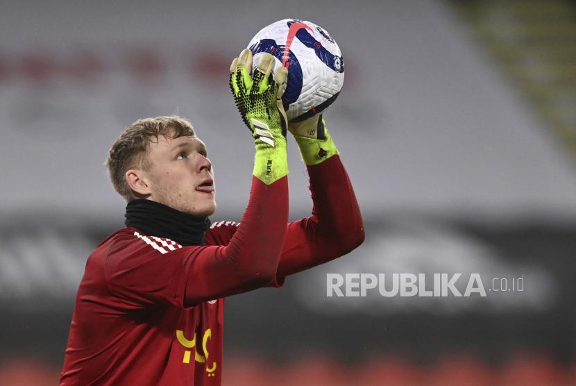 Penjaga gawang baru Arsenal, Aaron Ramsdale.