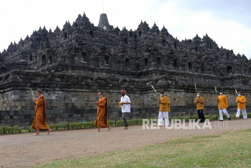 Menteri Pariwisata dan Ekonomi Kreatif (Menparekraf) Sandiaga Salahuddin Uno optimistis magnet Borobudur menjadi awal kebangkitan ekonomi dan pariwisata Indonesia. (Foto ilustrasi Candi Borobudur)