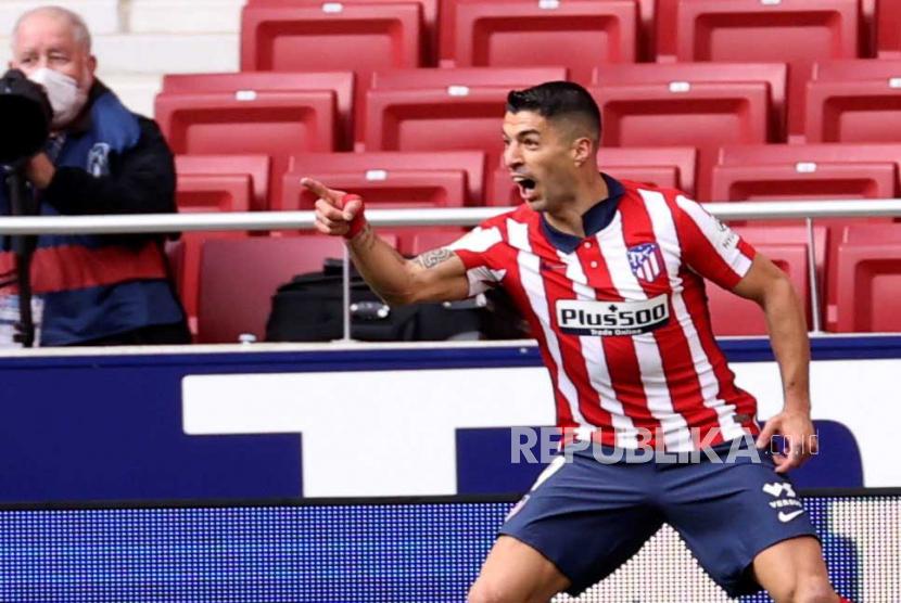 Luis Suarez dari Atletico Madrid.
