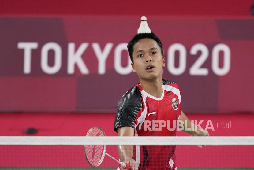 Pebulu tangkis tunggal putra Indonesia Anthony Sinisuka Ginting.