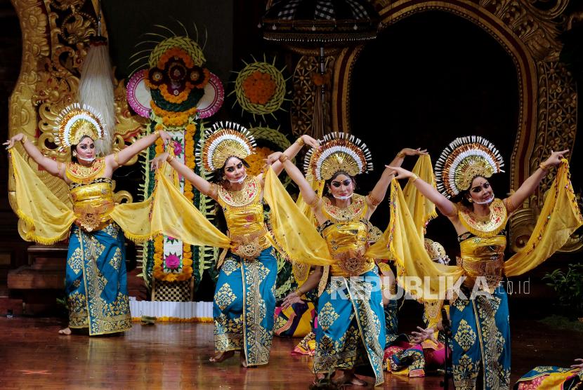 Riset menyatakan para penari Bali mempunyai daya tahan tubuh hadapi Covid-19. Ilustrasi penari Bali