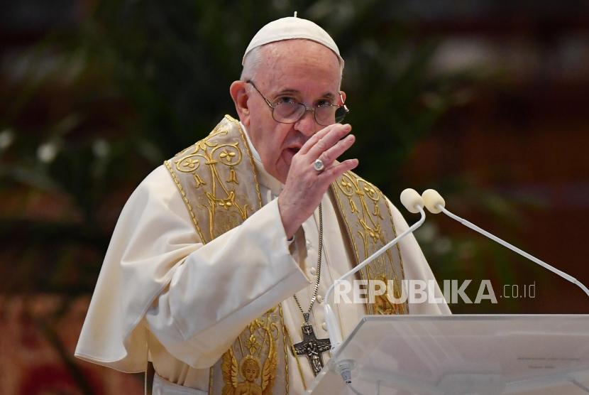 Paus Fransiskus telah menyerukan diakhirinya konflik di Israel dan Gaza. Ilustrasi.