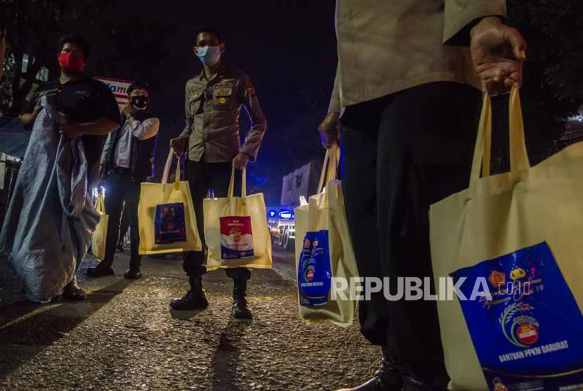 Polres Pekalongan Gandeng Wartawan Salurkan Bansos Covid-19 (ilustrasi).