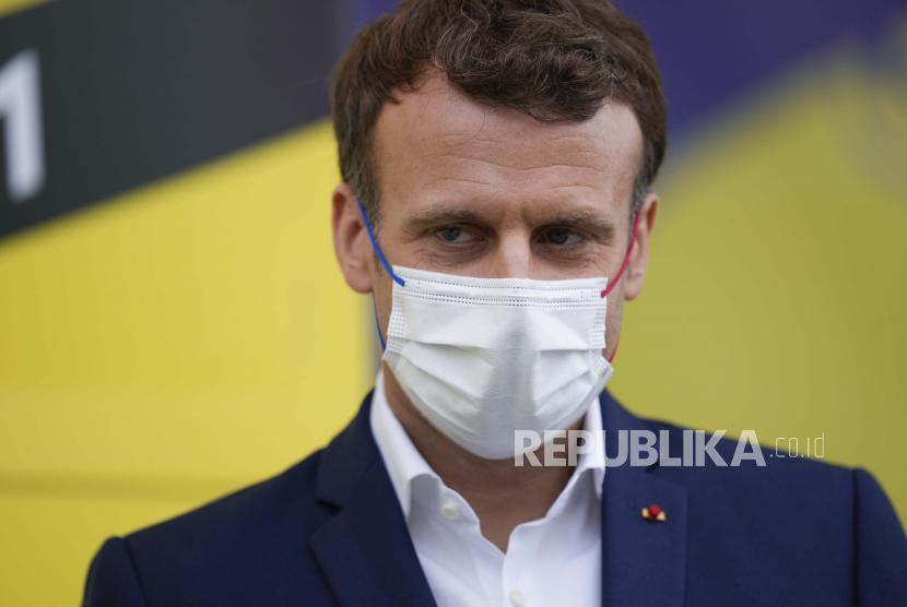 Presiden Prancis Klaim 60 Persen Warganya Sudah Divaksin. Presiden Prancis Emmanuel Macron.