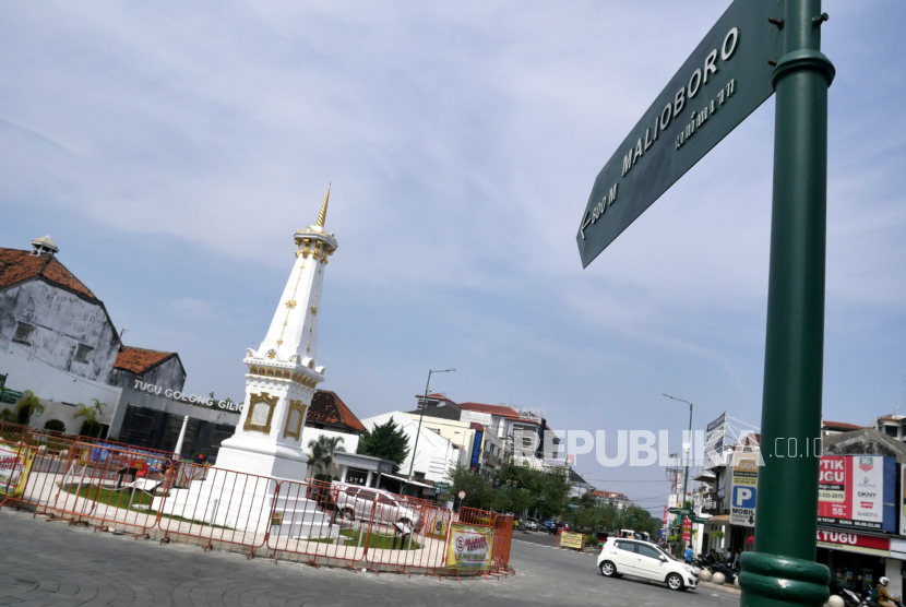 Ikon wisata Tugu Pal Putih Yogyakarta.