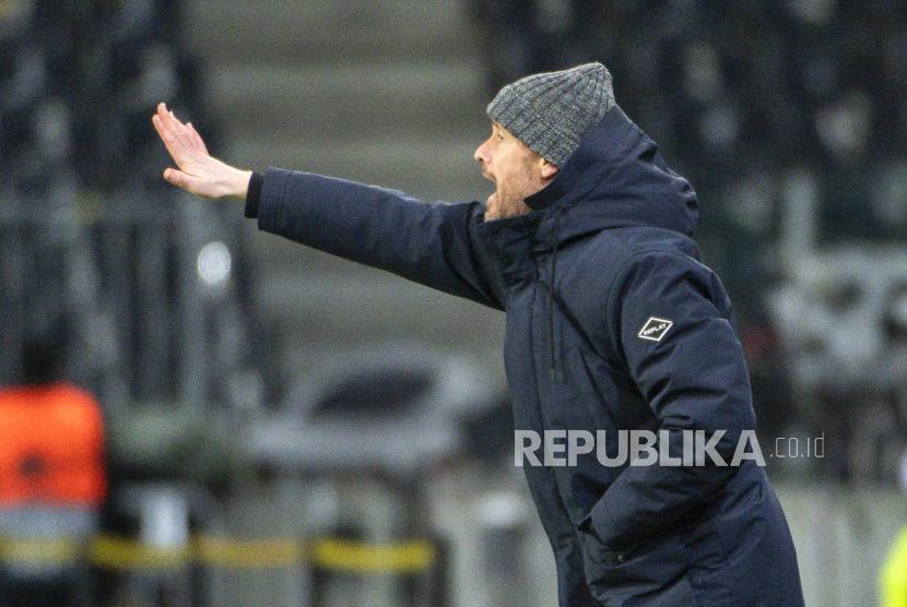 Pelatih Ajax Amsterdam Erik ten Hag.