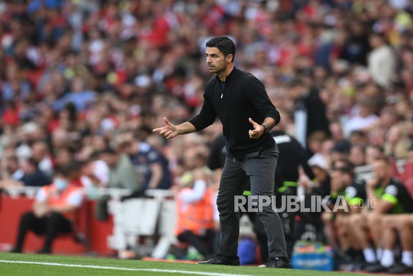 Manajer Arsenal Mikel Arteta.