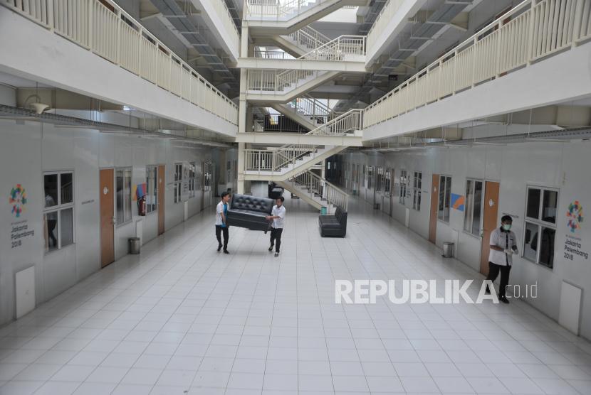 Pemerintah Proviinsi Sumsel kembali menyiapkan Wisma Atlet Jakabaring Palembang  untuk menampung kasus positif Covid-19