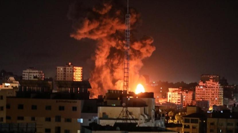Setidaknya 217 warga Palestina gugur dalam serangan Israel di Gaza - Anadolu Agency