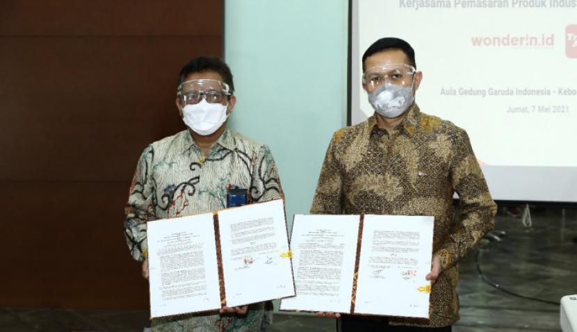 Telkom Gandeng Anak Usaha Garuda Pasarkan Platform Digital Pariwisata (Foto: Telkom)