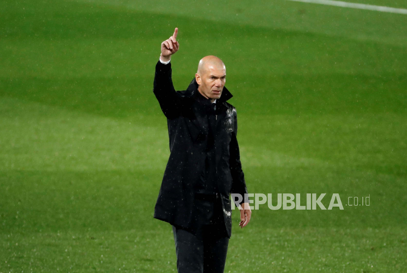 Pelatih kepala Real Madrid Zinedine Zidane.