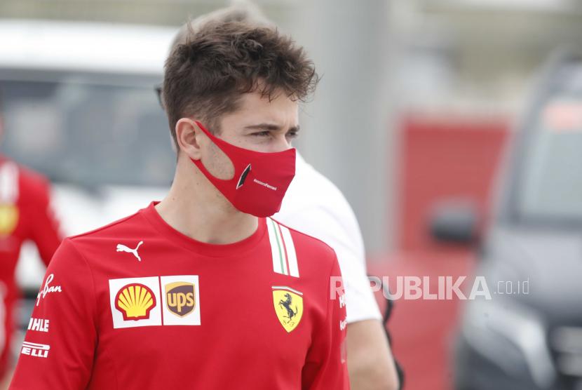 Pembalap Ferrari Charles Leclerc.