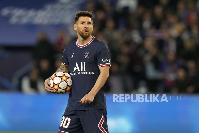 Pemain PSG Lionel Messi.