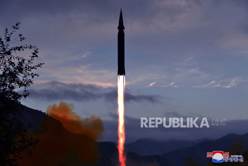 Ilustrasi rudal hipersonik. Amerika Serikat (AS) gagal melakukan uji coba senjata hipersonik.