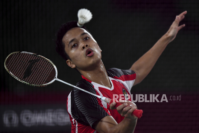 Pebulutangkis tunggal putra Indonesia Anthony Sinisuka Ginting