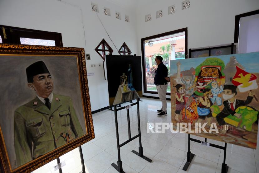 Sleman Gelar Pameran Lukisan Bertema Jiwa Pancasila (ilustrasi).