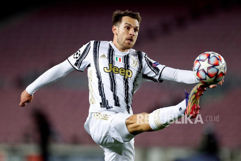 Gelandang Juventus Aaron Ramsey.