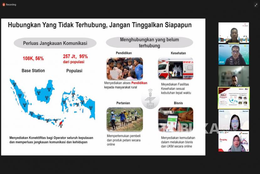Sejumlah narasumber dalam talkshow online di Jakarta, Kamis (23/9). Talkshow yang diselenggarakan oleh Republika ini mengangkat tema KitaBisaUsaha.