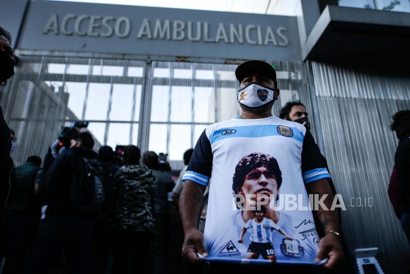 Maradona Wafat Argentina Berkabung Nasional Tiga Hari Republika Online