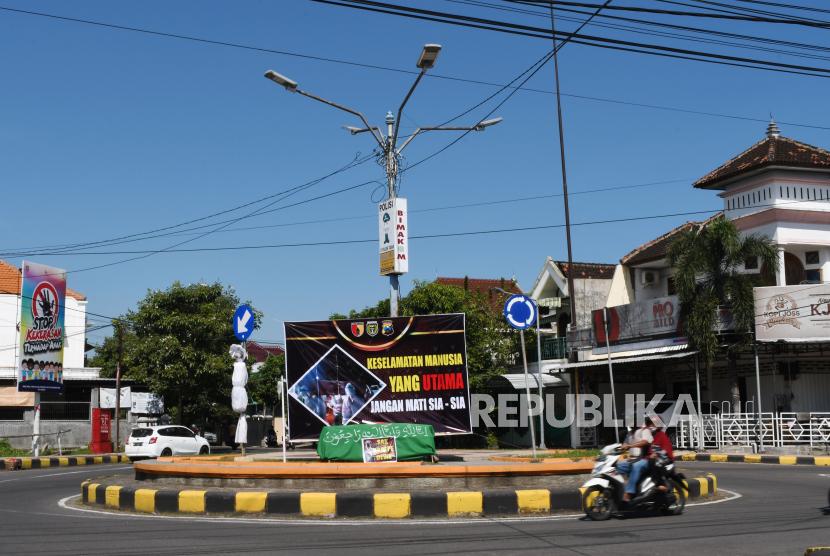 Madiun masih memberlakukan PPKM level 4. Suasana Kota Madiun