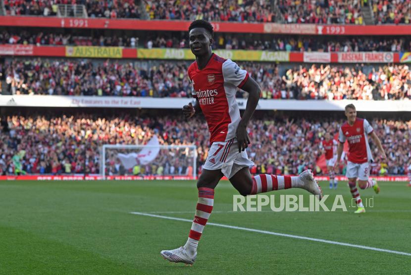 Bukayo Saka dari Arsenal.