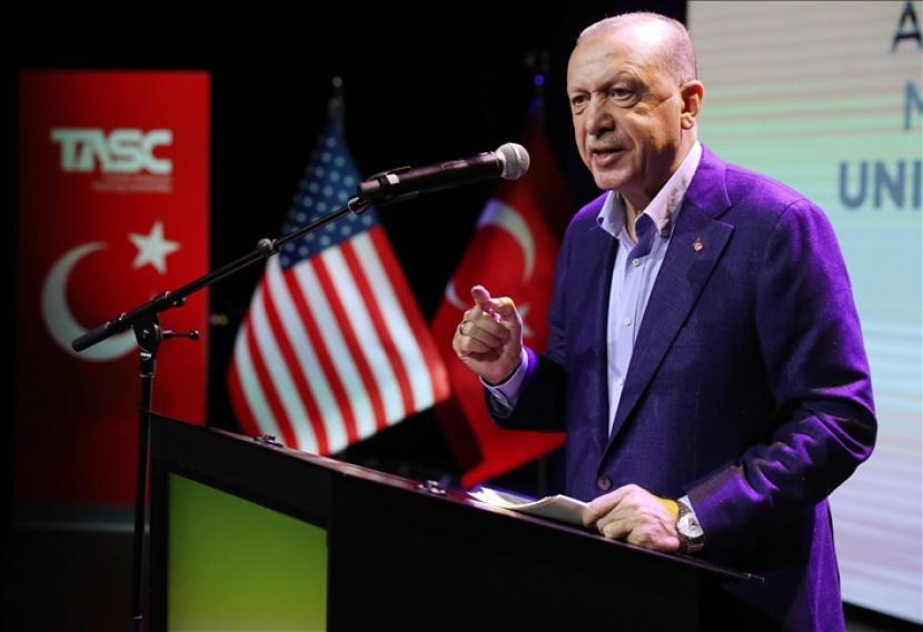 Presiden Turki Recep Tayyip Erdogan tiba di New York untuk hadiri sidang umum PBB.