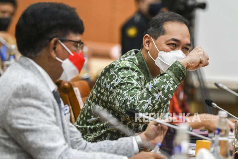 Menteri Perdagangan Muhammad Lutfi (kanan). Trade Expo Indonesia ke 36 tahun 2021 bakal kembali digelar pada 21 Oktober-4 November 2021.