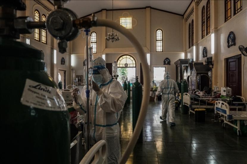 Filipina pada Kamis (16/9) melaporkan kasus Covid-19 sebanyak 21.261 dalam 24 jam terakhir sehingga total infeksi mencapai 2.304.192.