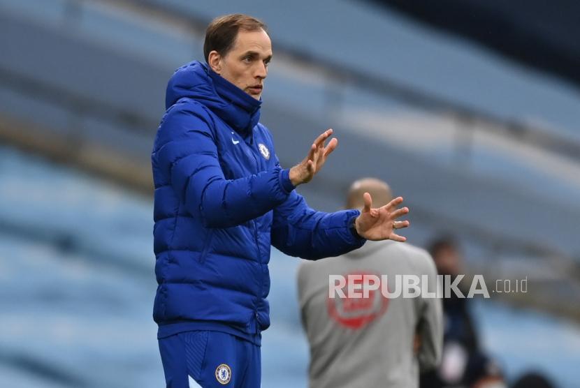 Pelatih Thomas Tuchel sedang berburu trofi pertama untuk Chelsea