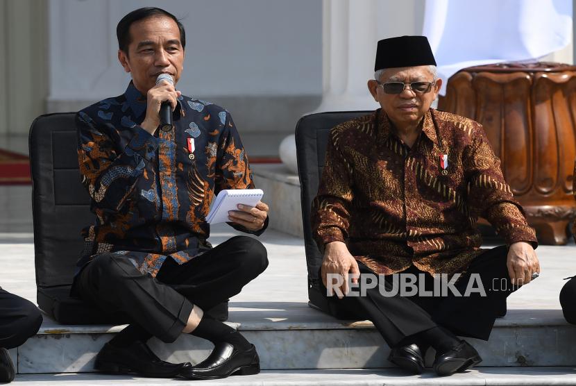 Presiden Joko Widodo (kiri) didampingi Wapres Maruf Amin disebut akan kembali melakukan perombakan atau reshuffle kabinet.