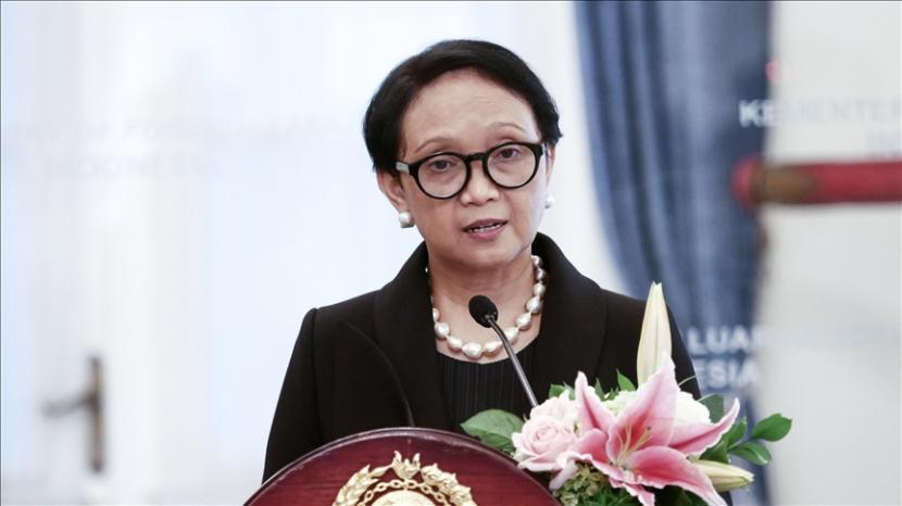 Menlu RI Retno Marsudi menyinggung soal pakta pertahanan trilateral AUKUS.