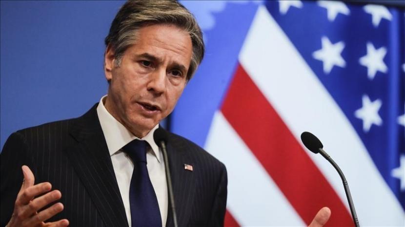 Menteri Luar Negeri Amerika Serikat (AS) Antony Blinken pada Rabu (4/8) mengecam keras