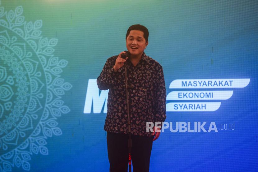 Ketua Umum Masyarakat Ekonomi Syariah Erick Thohir. Republika/Putra M. Akbar
