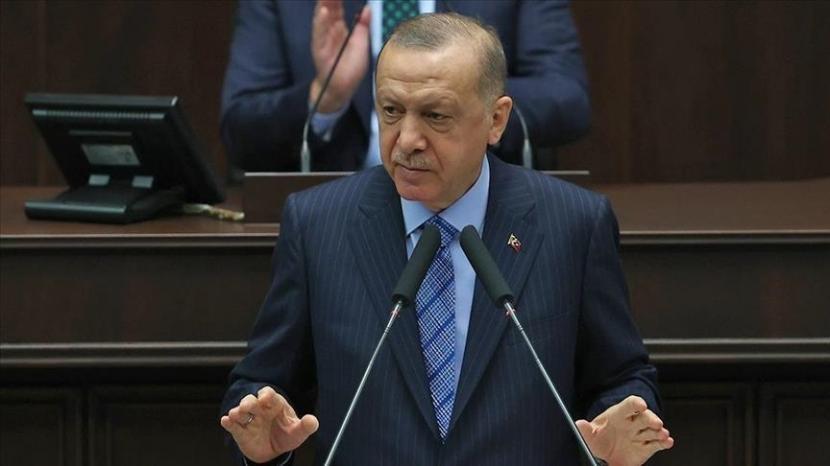 Presiden Turki Erdogan mengungkapkan keprihatinan atas ancaman keamanan serius yang dihadapi para Muslim yang tinggal di Eropa - Anadolu Agency