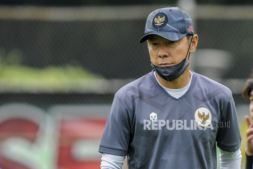 Pelatih Timnas Indonesia U23 Shin Tae Yong.