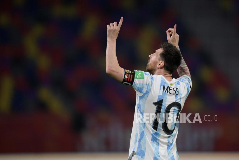 Bintang timnas Argentina Lionel Messi.