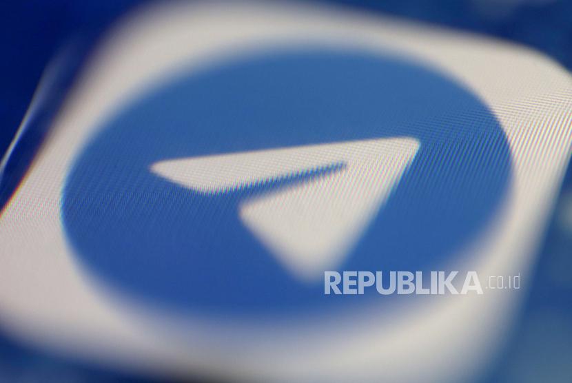 Ilustrasi foto menunjukkan ikon aplikasi aplikasi olah pesan media sosial Telegram yang ditampilkan pada ponsel di Oestrich-Winkel, Jerman, 04 Februari 2021 (dikeluarkan 05 Februari 2021).