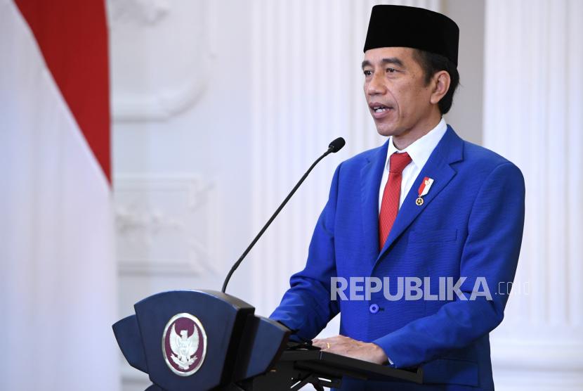 Presiden Joko Widodo menyampaikan pidato untuk ditayangkan dalam Sidang Majelis Umum ke-75 PBB secara virtual, tahun lalu.