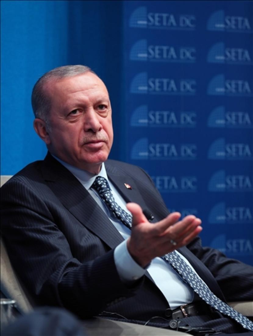 Presiden Turki mengatakan pada Senin (20/9) bahwa dia mengharapkan hubungan ekonomi antara negaranya dan Amerika Serikat tumbuh untuk mencapai potensi penuh yang nyata.